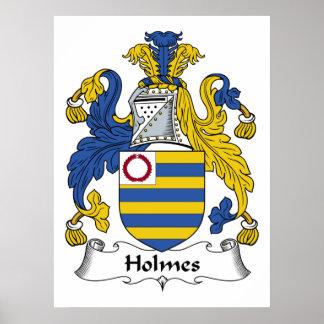 Escudo de la familia de Holmes Póster