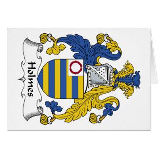 Escudo de la familia de Holmes Tarjeta De Felicitación