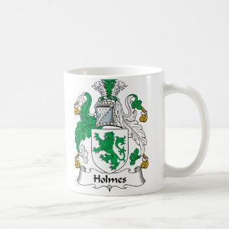 Escudo de la familia de Holmes Taza De Café