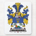 Escudo de la familia de Holmskiold Alfombrilla De Ratones