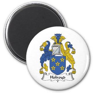 Escudo de la familia de Holroyd Imán Redondo 5 Cm