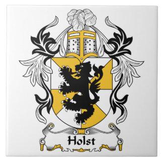 Escudo de la familia de Holst Azulejo Cuadrado Grande