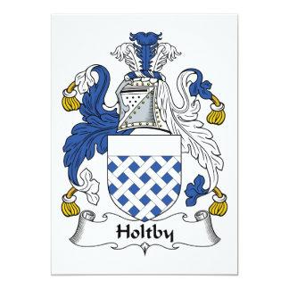 Escudo de la familia de Holtby Invitacion Personalizada
