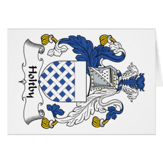 Escudo de la familia de Holtby Tarjeta De Felicitación