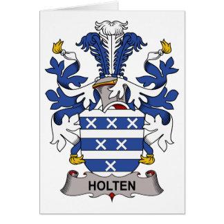 Escudo de la familia de Holten Tarjeta De Felicitación