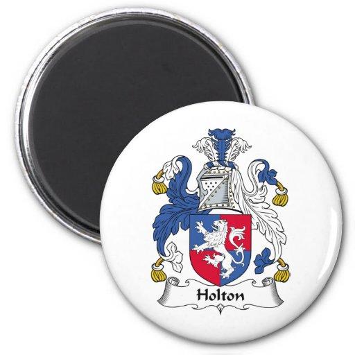 Escudo de la familia de Holton Imán Redondo 5 Cm