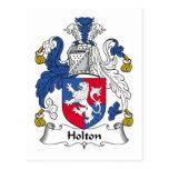 Escudo de la familia de Holton Tarjeta Postal