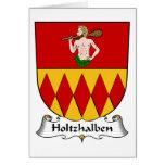 Escudo de la familia de Holtzhalben Tarjetas