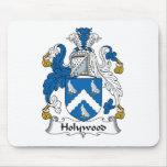 Escudo de la familia de Holywood Tapete De Ratón
