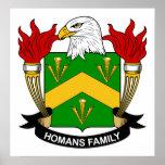 Escudo de la familia de Homans Posters
