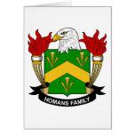 Escudo de la familia de Homans Tarjetón
