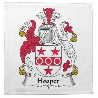Escudo de la familia de Hooper Servilletas