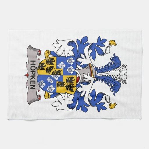 Escudo de la familia de Hopken Toalla