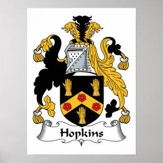 Escudo de la familia de Hopkins Impresiones