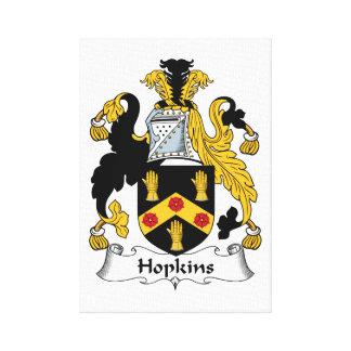 Escudo de la familia de Hopkins Impresión De Lienzo