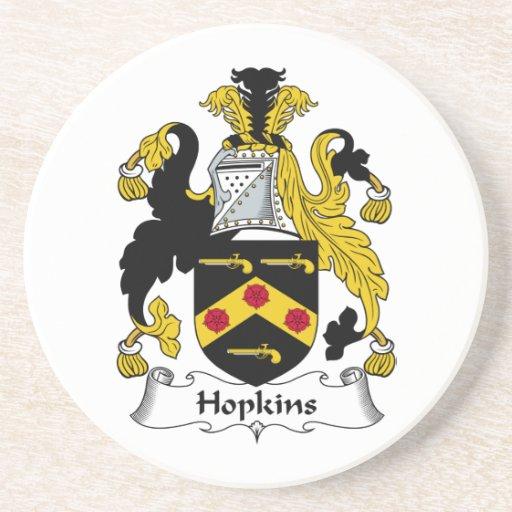 Escudo de la familia de Hopkins Posavasos Diseño