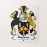 Escudo de la familia de Hopkins Puzzles Con Fotos
