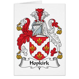 Escudo de la familia de Hopkirk Tarjeta De Felicitación