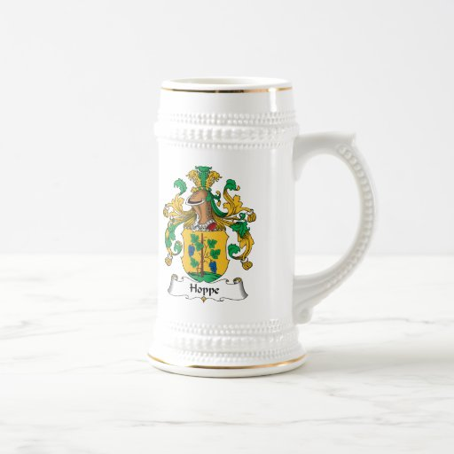 Escudo de la familia de Hoppe Jarra De Cerveza