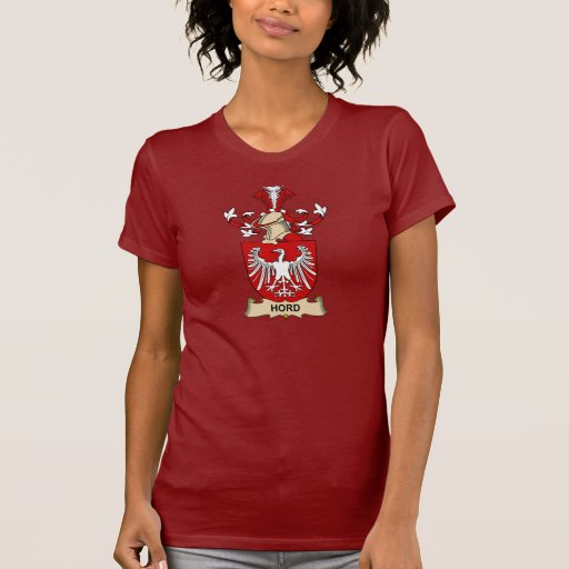 Escudo de la familia de Hord Camisetas