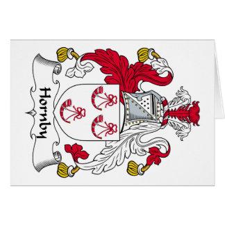 Escudo de la familia de Hornby Felicitación