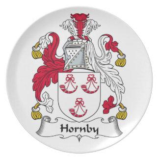 Escudo de la familia de Hornby Plato De Comida