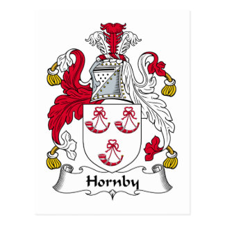 Escudo de la familia de Hornby Tarjeta Postal