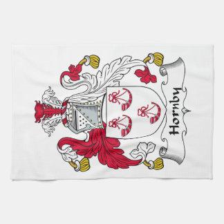 Escudo de la familia de Hornby Toalla De Mano