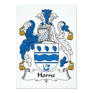 """Escudo de la familia de Horne Invitación 5"""" X 7"""""""