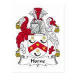 Escudo de la familia de Horne Postal