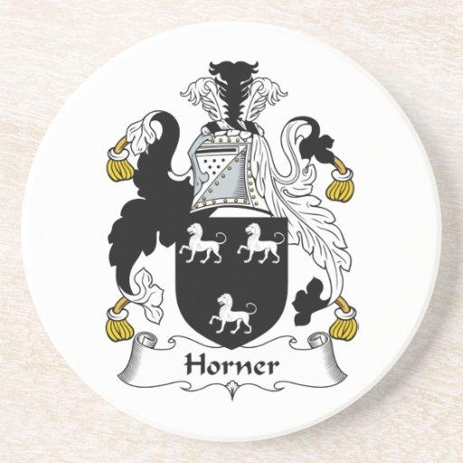 Escudo de la familia de Horner Posavasos Personalizados