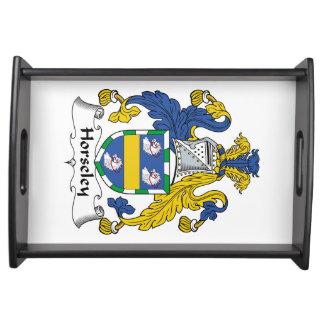 Escudo de la familia de Horseley Bandeja