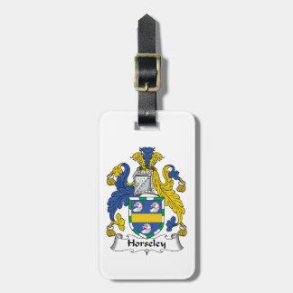 Escudo de la familia de Horseley Etiqueta Para Maleta