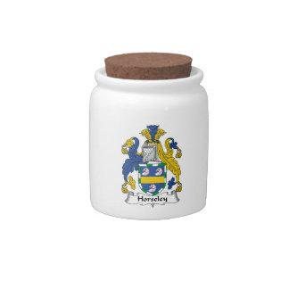 Escudo de la familia de Horseley Platos Para Caramelos