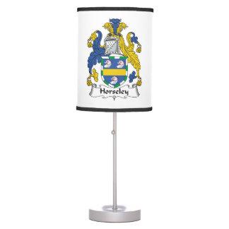 Escudo de la familia de Horseley Lámpara De Mesilla De Noche
