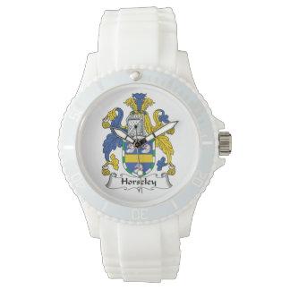 Escudo de la familia de Horseley Relojes