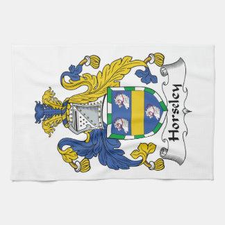 Escudo de la familia de Horseley Toalla