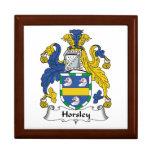 Escudo de la familia de Horsley Cajas De Recuerdo