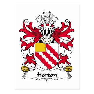 Escudo de la familia de Horton Tarjetas Postales
