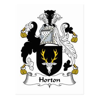 Escudo de la familia de Horton Postales