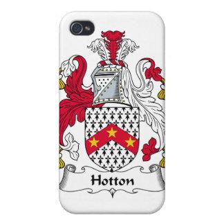 Escudo de la familia de Hotton iPhone 4 Cárcasas