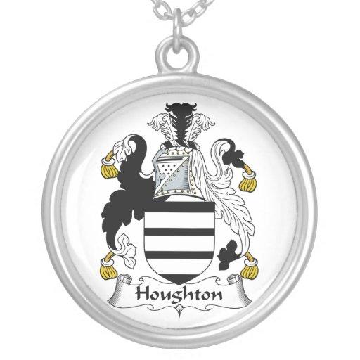 Escudo de la familia de Houghton Colgante Redondo