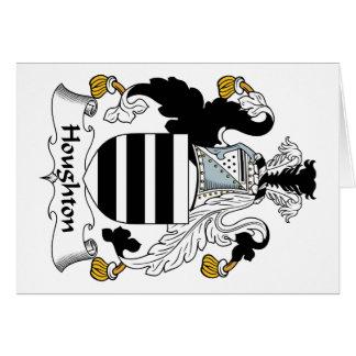 Escudo de la familia de Houghton Felicitación
