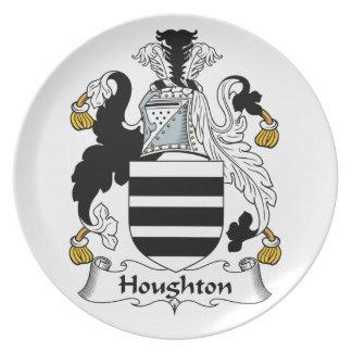 Escudo de la familia de Houghton Plato De Cena