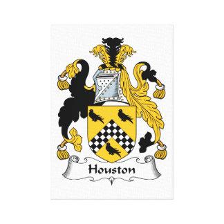 Escudo de la familia de Houston Impresión De Lienzo
