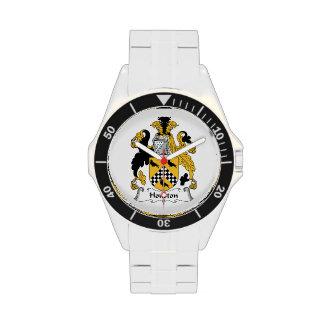 Escudo de la familia de Houston Relojes De Mano