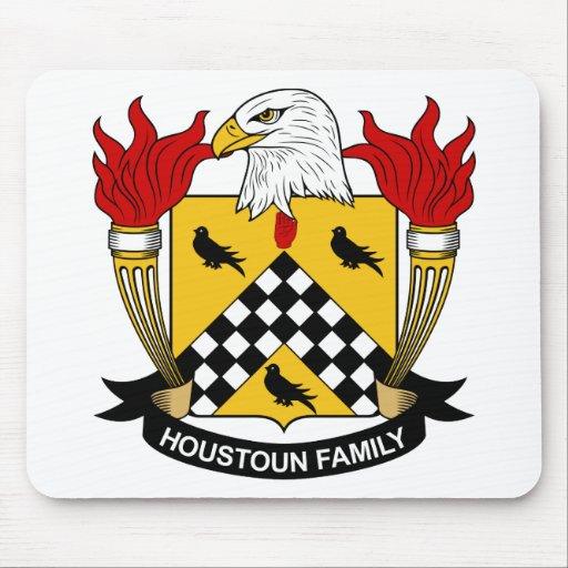 Escudo de la familia de Houstoun Alfombrillas De Ratón