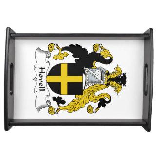 Escudo de la familia de Hovell Bandejas