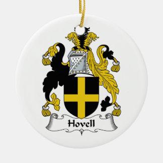 Escudo de la familia de Hovell Adorno Redondo De Cerámica