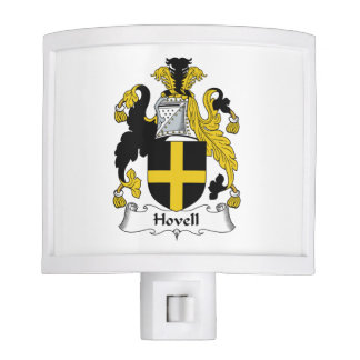 Escudo de la familia de Hovell Lámparas De Noche
